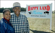 Anne and Harold Wright of Happy Land Farm, Courtesy of NC A&T