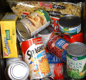 Donated non-perishable items