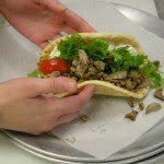 A delicious gyro - a staple at the restaurant