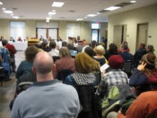 The audience packed in for the Council's first meeting